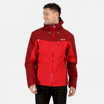 Regatta Men's Birchdale Waterproof Hooded Walking Jacket - True Red Delhi Red