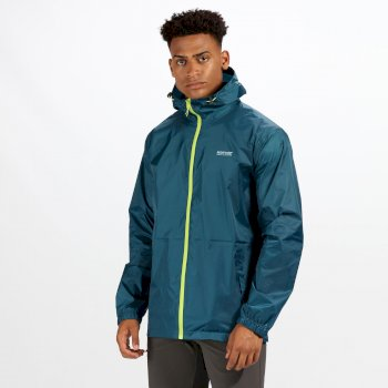 Regatta Men's Pack-It Jacket III Waterproof Packaway Jacket Sea Blue