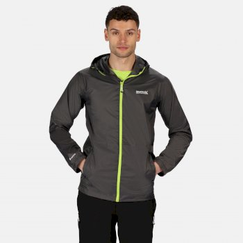 Regatta Men's Matt Lightweight Waterproof Walking Jacket with Concealed Hood - Magnet