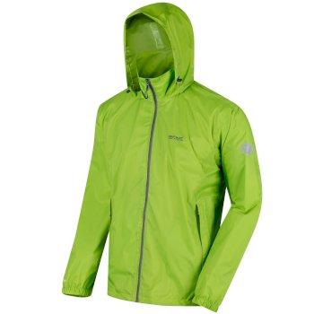 Regatta Men's Lyle IV Lightweight Waterproof Packaway Walking Jacket - Lime Green