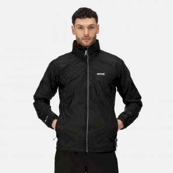 Men's Lyle IV Lightweight Waterproof Jacket with Concealed Hood Black