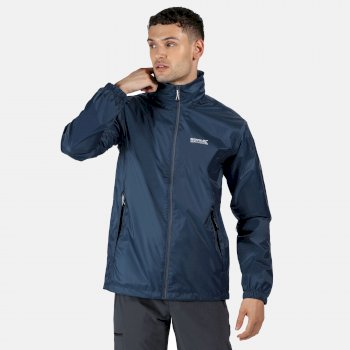 Regatta Men's Lyle IV Lightweight Waterproof Shell Packaway Walking Jacket - Dark Denim