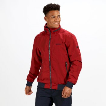Regatta Men's Maxfield Bomber Style Lightweight Waterproof Jacket Delhi Red