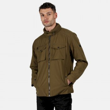 Regatta Men's Elmore Waterproof Cargo Jacket - Dark Camel
