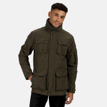 Regatta Men's Elmore Waterproof Cargo Jacket - Dark Khaki