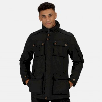 Regatta Men's Elmore Waterproof Cargo Jacket - Black