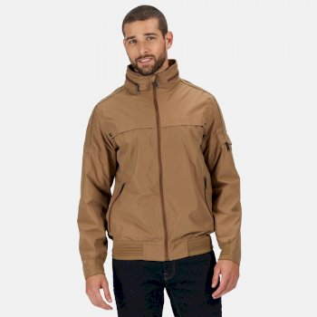 Regatta Men's Montel Waterproof Bomber Jacket - Dark Camel