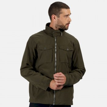 Regatta Men's Haldor Waterproof Jacket with Concealed Hood - Dark Khaki