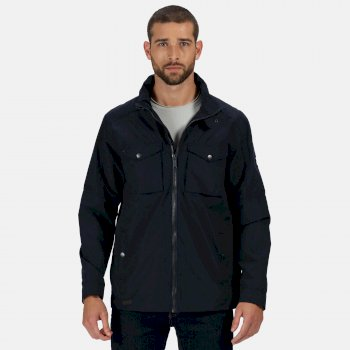 Regatta Men's Haldor Waterproof Jacket with Concealed Hood - Navy