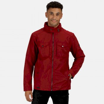 Regatta Men's Haldor Waterproof Jacket with Concealed Hood - Delhi Red