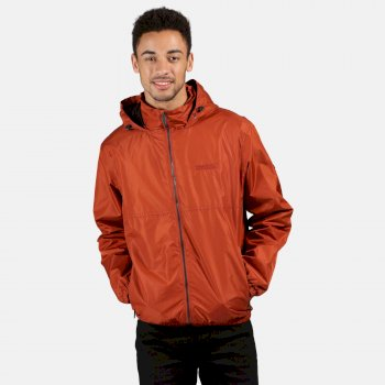 Regatta Men's Ladomir Lightweight Waterproof Jacket - Rust Orange