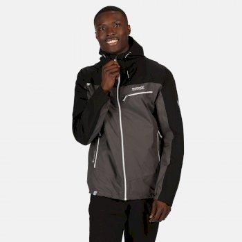 Regatta Men's Highton Stretch Waterproof Jacket - Magnet Black