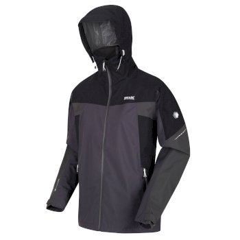 Regatta Men's Oklahoma VI Waterproof Shell Hooded Walking Jacket - Ash Black