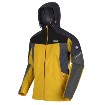 Regatta Men's Oklahoma VI Waterproof Shell Hooded Walking Jacket - Grapefruit