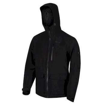 Regatta Men's Pulton Waterproof Shell Hooded Walking Jacket - Black