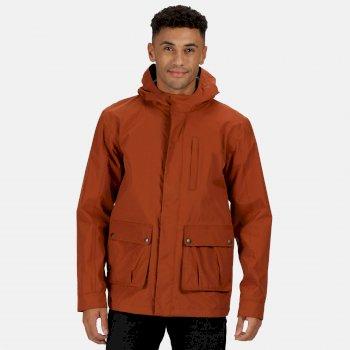 Regatta Men's Bazyl II Waterproof Hooded Shell Jacket - Gingerbread
