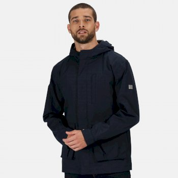 Regatta Men's Bazyl II Waterproof Hooded Shell Jacket - Navy