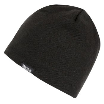 Regatta Adult's Brevis II Fleece Lined Acrylic Knit Beanie - Black