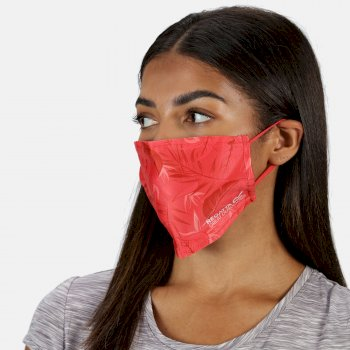 Regatta Adult's Face Covering 3 Pack - Red Sky Black