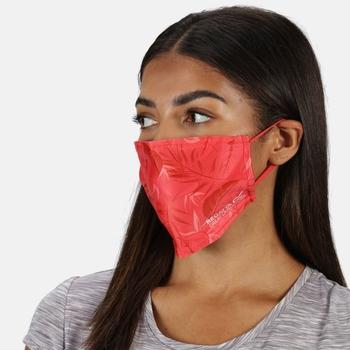 Gesichtsmasken, 3er-Pack für Erwachsene Rot