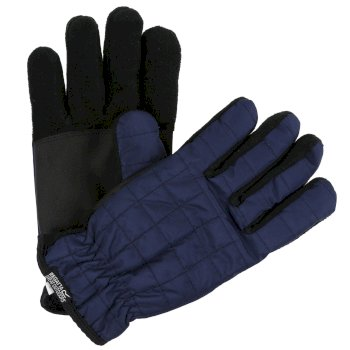 Regatta Adults Quilted Gloves - Navy