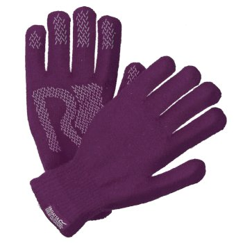 Regatta Brevis Acrylic Knit Gloves Winberry