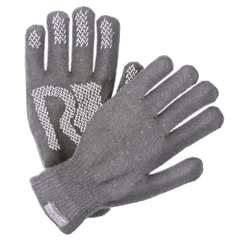 Regatta Adults Brevis Acrylic Knit Gloves - Rock Grey