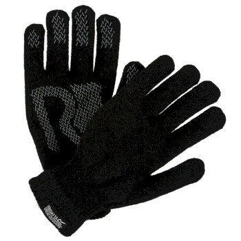 Regatta Adults Brevis Acrylic Knit Gloves - Black