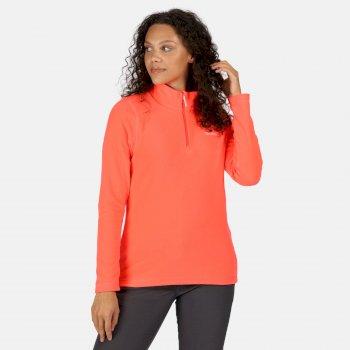 Sweethart - Damen Fleece-Sweatshirt mit Reißverschluss - leicht Fiery Coral