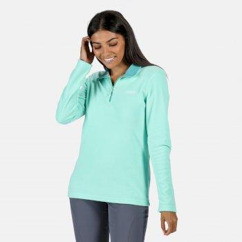 Sweethart - Damen Fleece-Sweatshirt mit Reißverschluss - leicht Grün