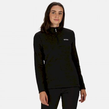 Regatta Women's Sweethart Lightweight Half-Zip Fleece - Black Blackcurrant