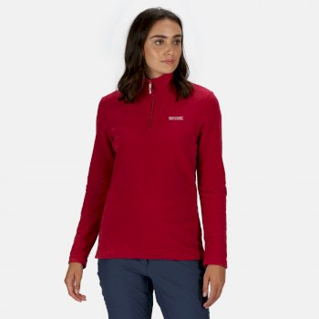 Regatta Women's Sweethart Lightweight Half-Zip Fleece Dark Cerise