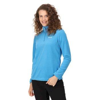 Sweethart - Damen Fleece-Sweatshirt mit Reißverschluss - leicht Blau
