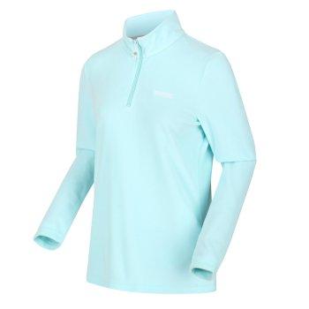 Sweethart leichtes Fleece mit halblangem Reißverschluss für Damen Blau