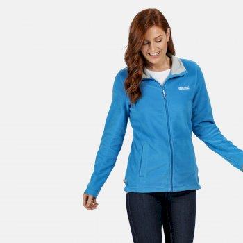 Clemance II Fleece-Sweatshirt mit durchgehendem Reißverschluss für Damen Blau