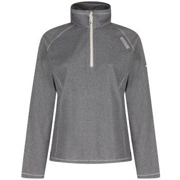 Regatta Women's Montes Half Zip Lightweight Mini Stripe Fleece Light Steel