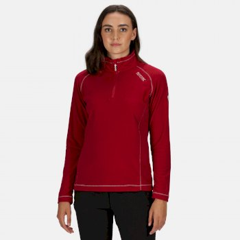 Regatta Women's Montes Lightweight Half-Zip Fleece - Dark Cerise