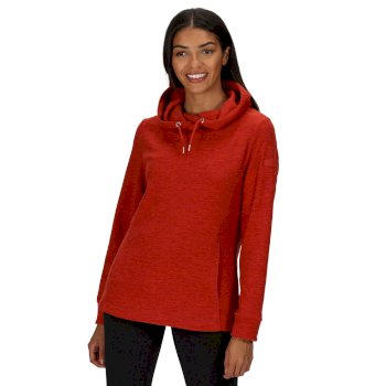 Regatta Women's Kizmit II Hooded Marl Fleece - Burnt Tikka
