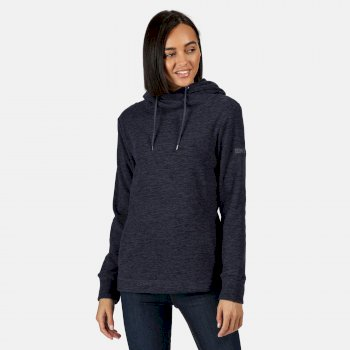Regatta Women's Kizmit II Hooded Marl Fleece - Navy Black