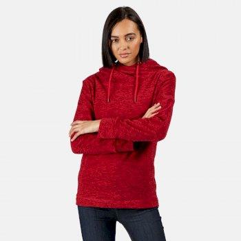 Kizmit II - Damen Fleece-Kapuzenpullover - meliert Rosa