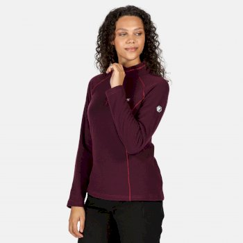 Regatta Women's Kenger Half Zip Honeycomb Fleece - Prune