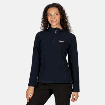 Regatta Women's Kenger Half Zip Honeycomb Fleece - Navy Deep Navy