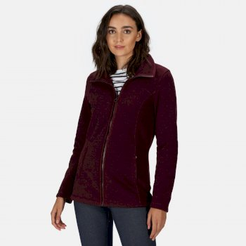 Regatta Women's Fayona Full Zip Fleece - Dark Burgundy