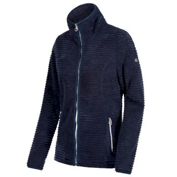 Halima Full Zip Fleece Navy