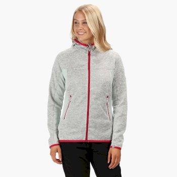 Willowbrook V Fleece-Sweatshirt mit Strickeffekt für Damen White Light Steel