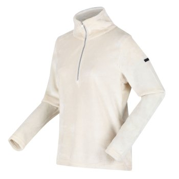 Fidelia leichtes Fleece mit halblangem Reißverschluss für Damen Sahne