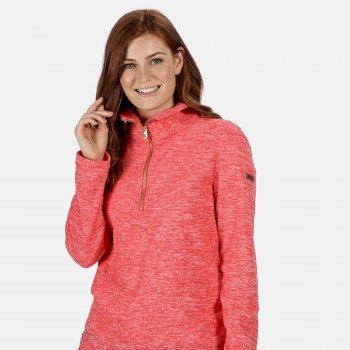 Fidelia leichtes Fleece mit halblangem Reißverschluss für Damen Rot