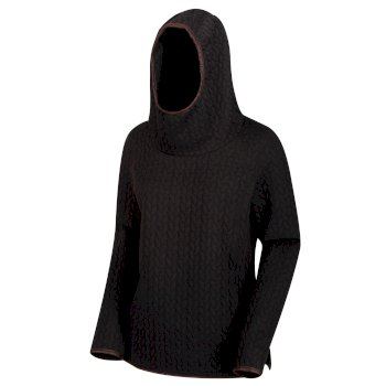 Regatta Women's Kaylynn Heavyweight Hooded Fleece - Black
