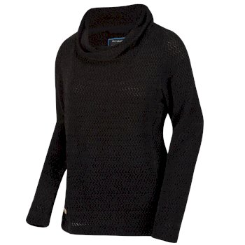 Regatta Women's Quintia Cowl Neck Knitted Fleece - Black