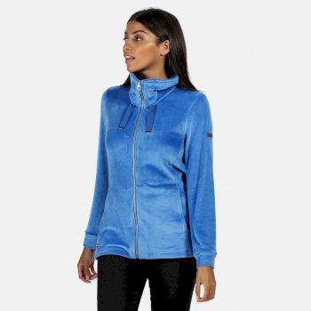 Odelia robustes Fleece mit durchgehendem Reißverschluss für Damen Blau